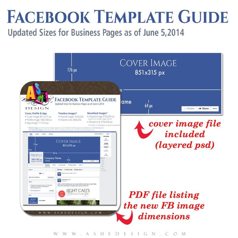 Facebook Size Guide and Timeline Template {capture creativity