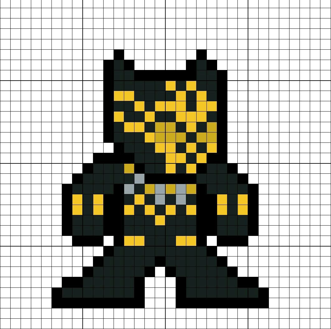 Erik Killmonger Black Panther Suit Perler Bead Pattern