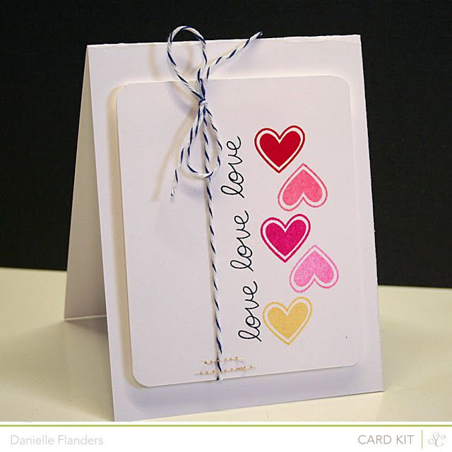 neat way to adhere twine with stitches and vertical hearts