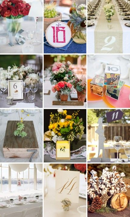 Get inspired by these #realwedding table number ideas.