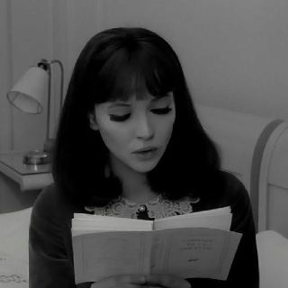 Anna Karina, 1960's actress and muse of the director Jean-Luc Godard.