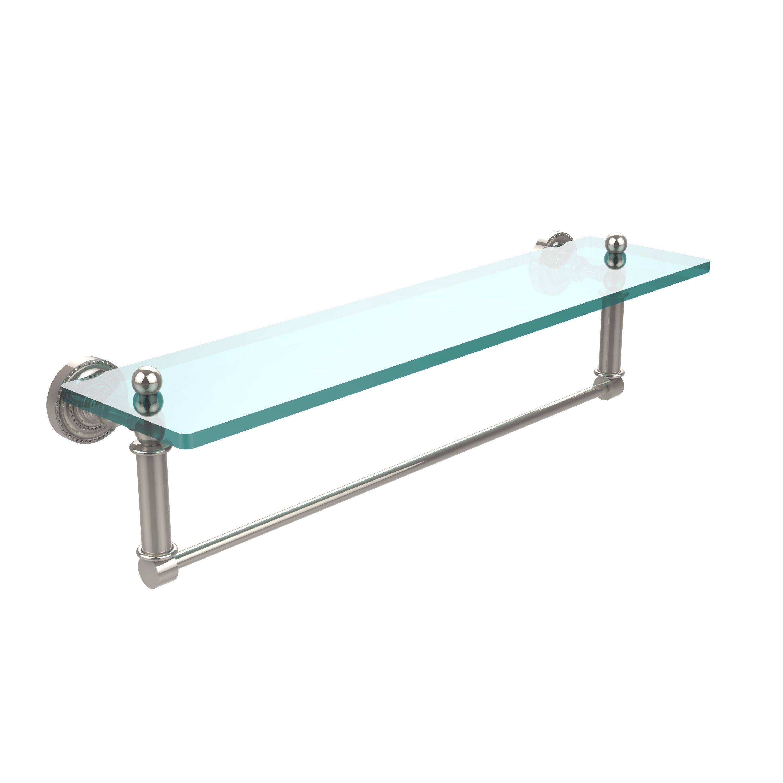Allied Brass Dottingham Collection Glass Shelf with Towel Bar ...
