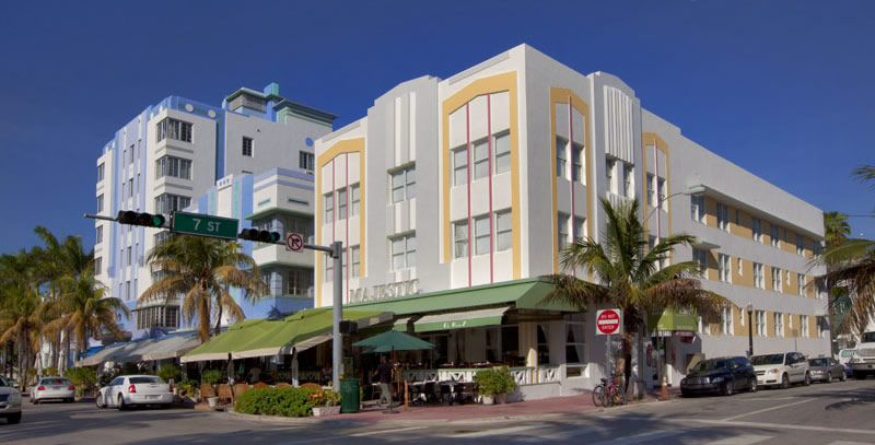 Majestic Hotel On Ocean Drive South Beach Miami Florida