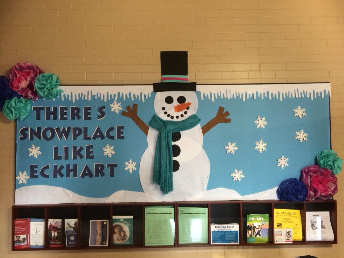 Snowman Bulletin Board #decemberbulletinboards