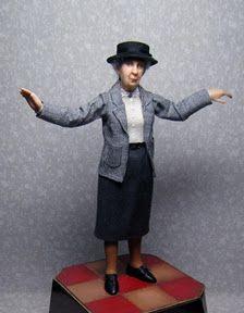 Agatha Christie in 1:12th scale