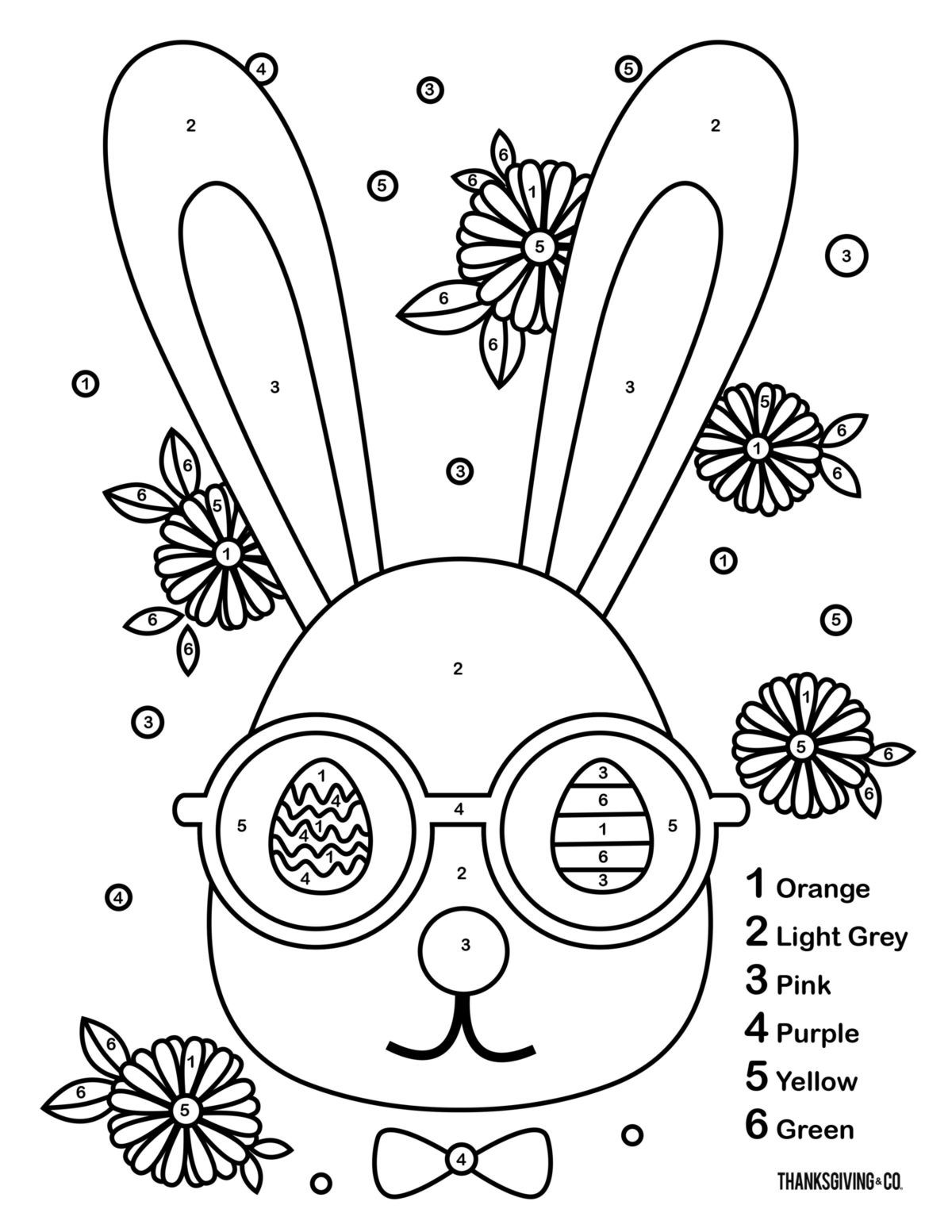 3 Free Printable Easter Color By Number Pages For Kids
