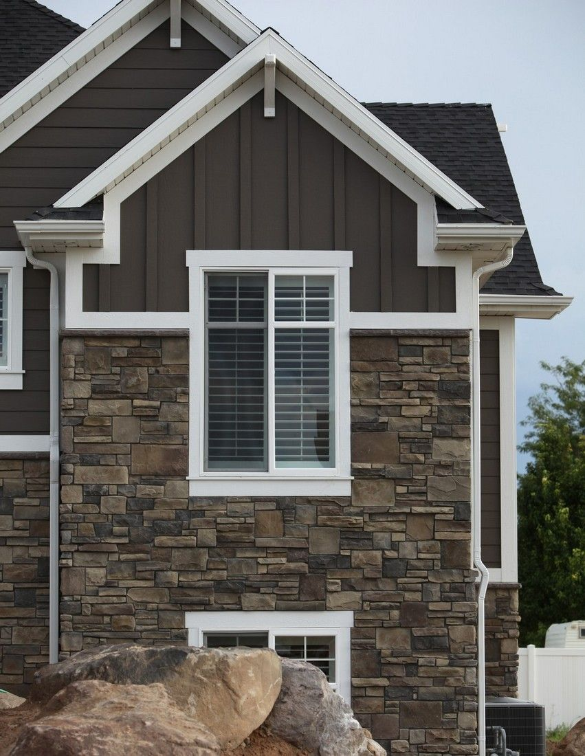 Perfect Siding Color Stone And Mortar Roof And Trim