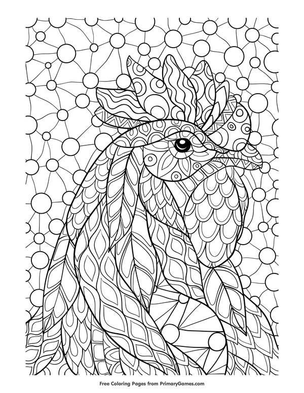 Chinese New Year Coloring Pages eBook: Rooster | Free printable ...