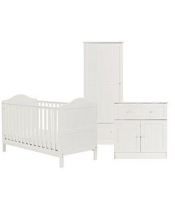 Bon Mothercare Darlington 3 Piece Nursery Furniture Set   White