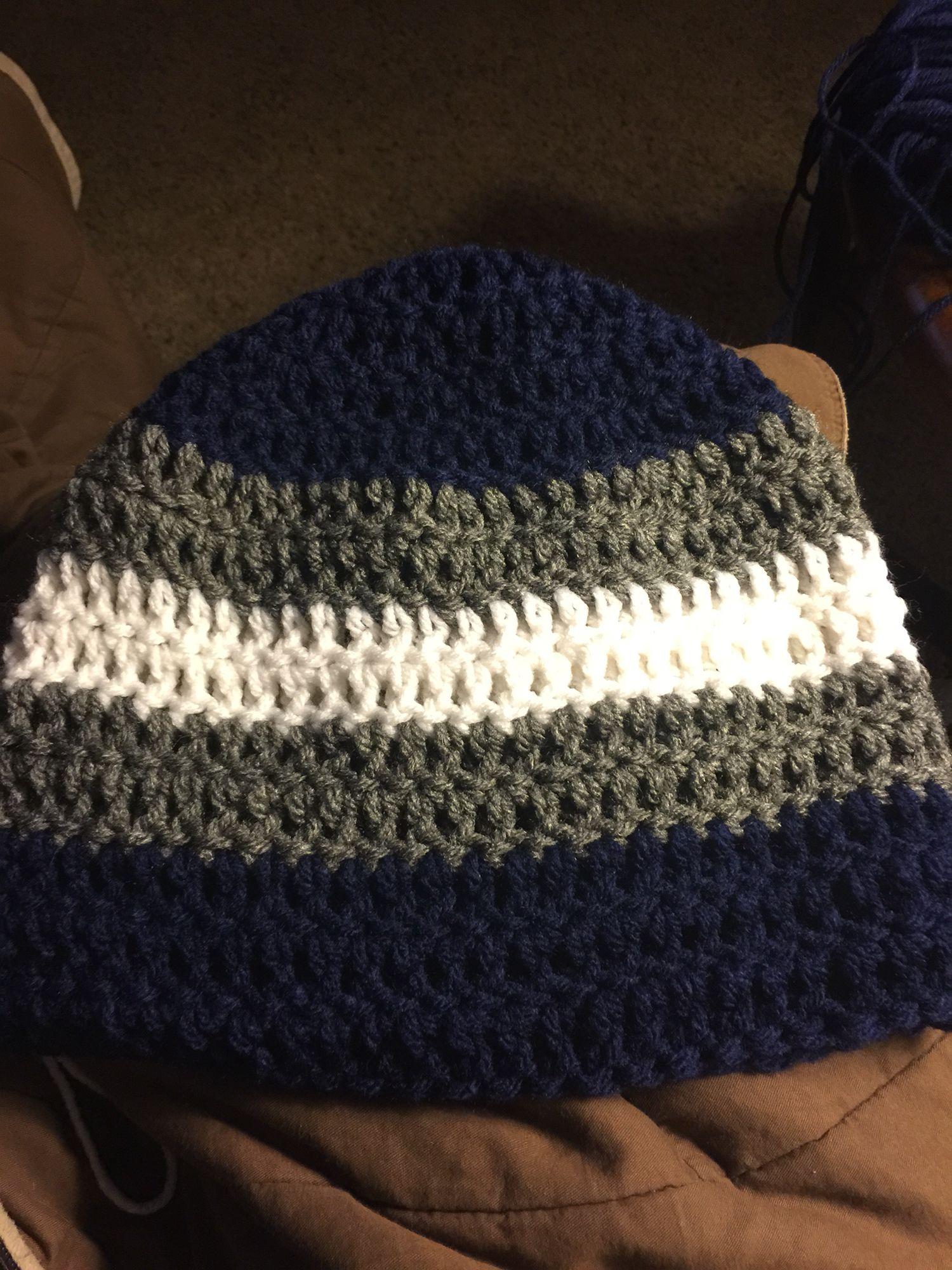 Dallas cowboy crocheted beanie   Cowboy crochet, Crochet ...