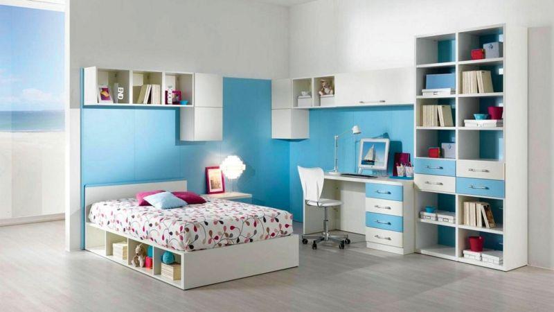 Fantastisch Kinderzimmer Für Jungs Wandfarbe In Blau
