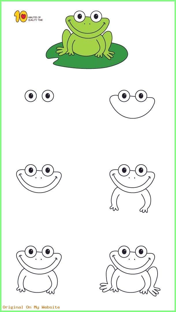 Kunst Zeichnungen - Wie zeichnet man ein Frosch Schritt ...