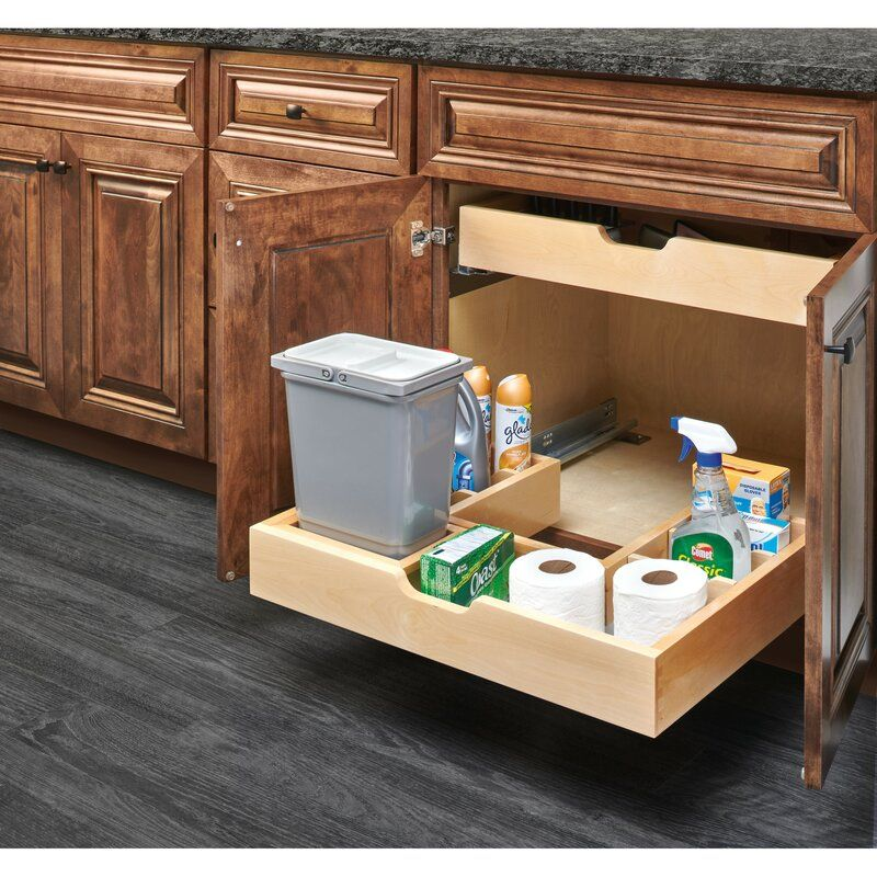Vanity U Shaped Undersink Pull Out Pantry In 2020 Rev A Shelf Shelves Natural Cabinets