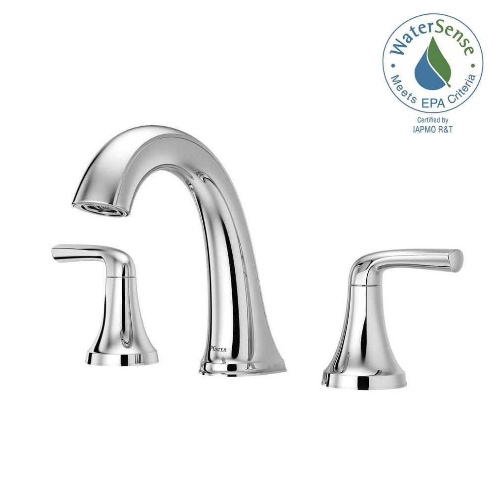 Pfister Ladera 8 In Widespread 2 Handle Bathroom Faucet In Polished Chrome Lf 049 Lrcc With Images Bathroom Faucets Faucet Polished Chrome