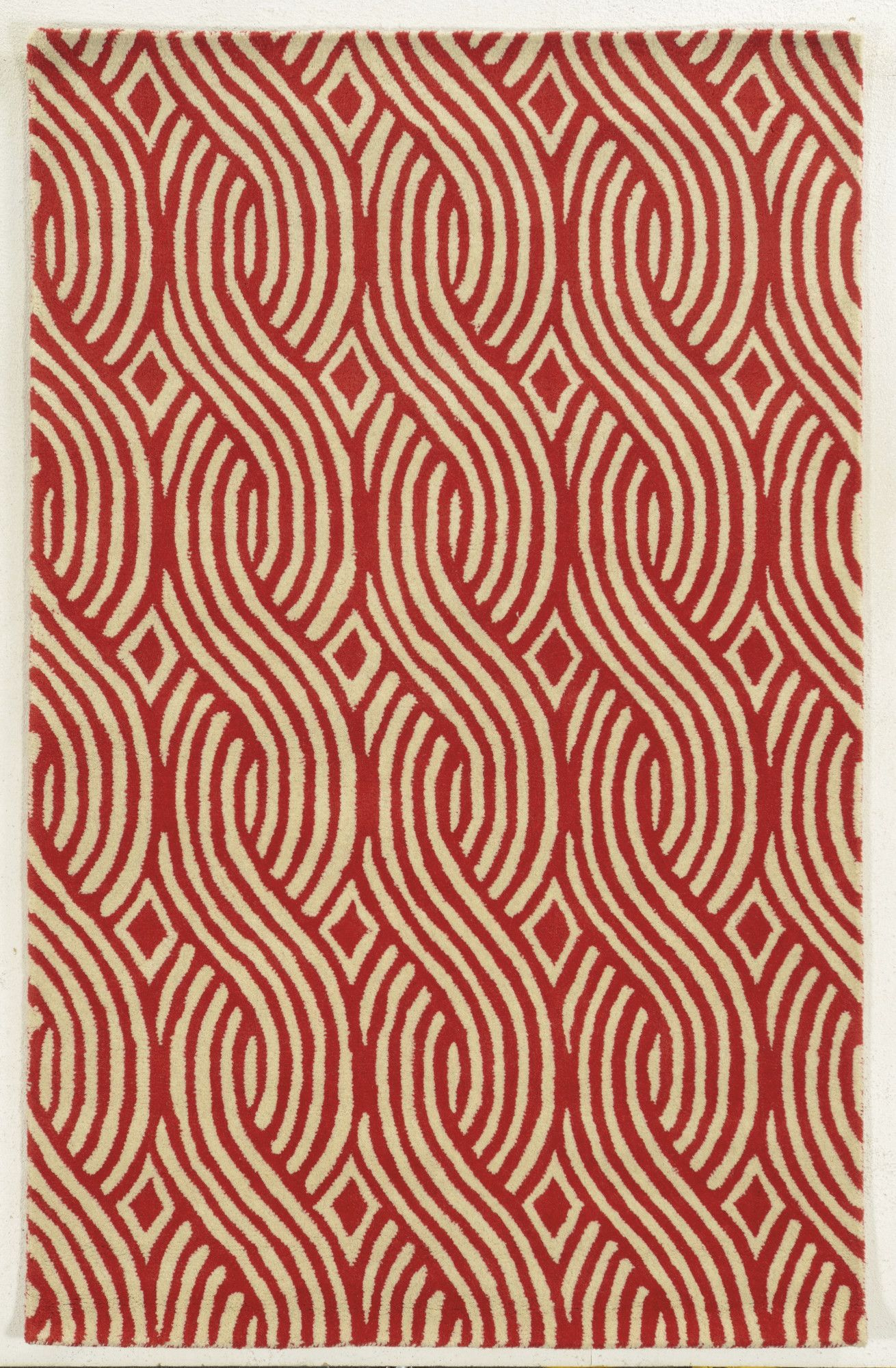 Abstract Handmade Tufted Wool Red Gold Area Rug In 2020 Wool Area Rugs Area Rugs Rugs