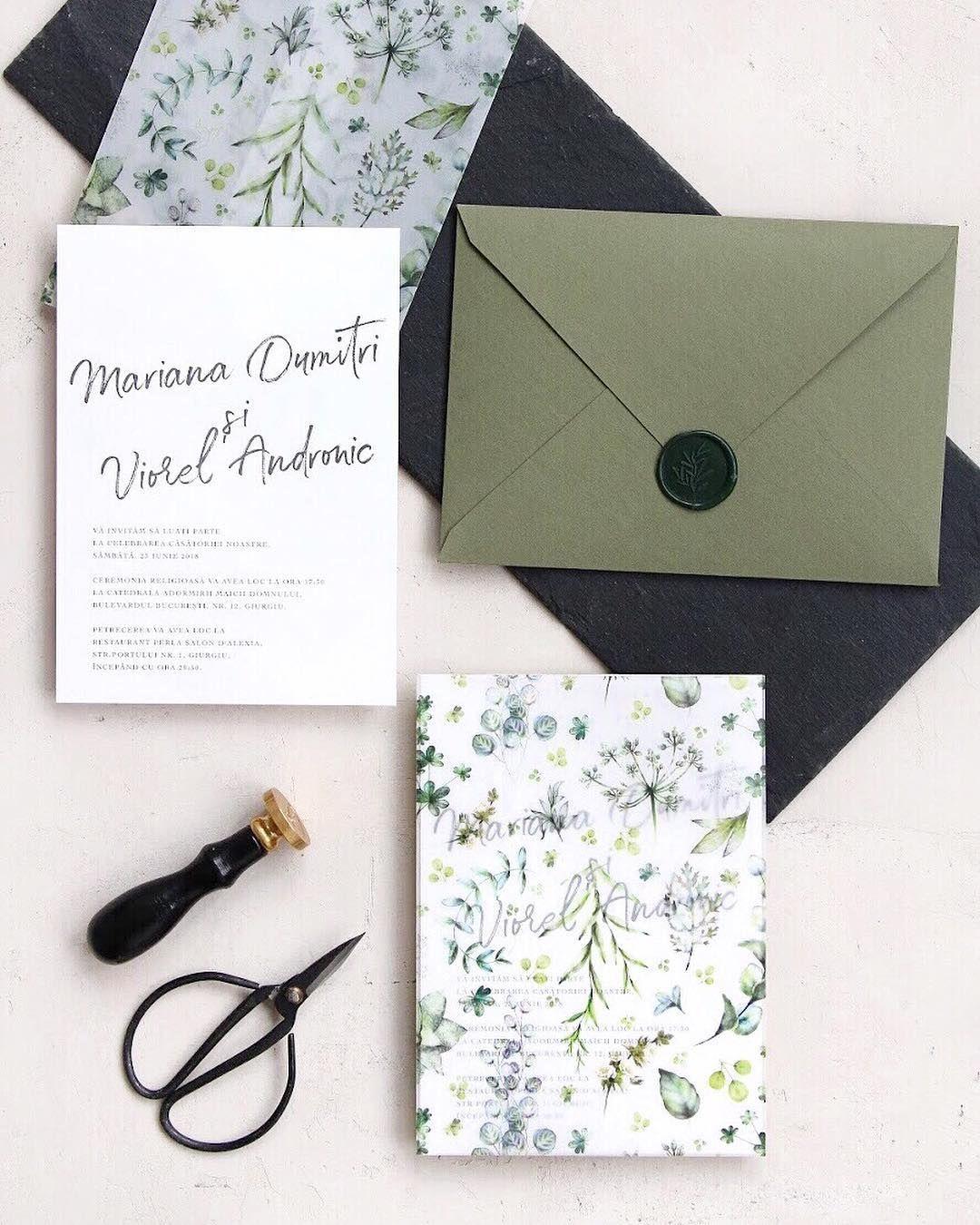 Vellum paper wrap wedding invitations, handmade envelopes with wax ...