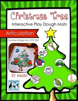 Christmas Tree Play Dough Mats For Articulation Christmas Speech Therapy Playdough Mats Playdough