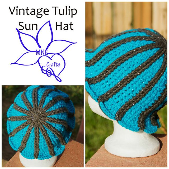 Ravelry: Vintage Tulip Sun Hat pattern by Manda Nicole   crochet ...