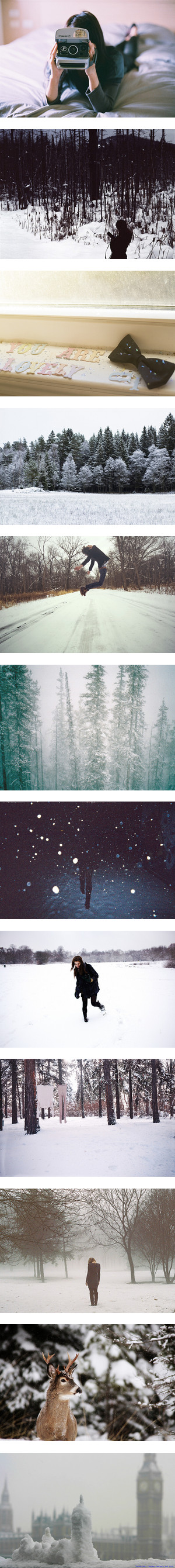 """Take time to chase the snowflakes."" by heyitzbriannaa ❤ liked on Polyvore"