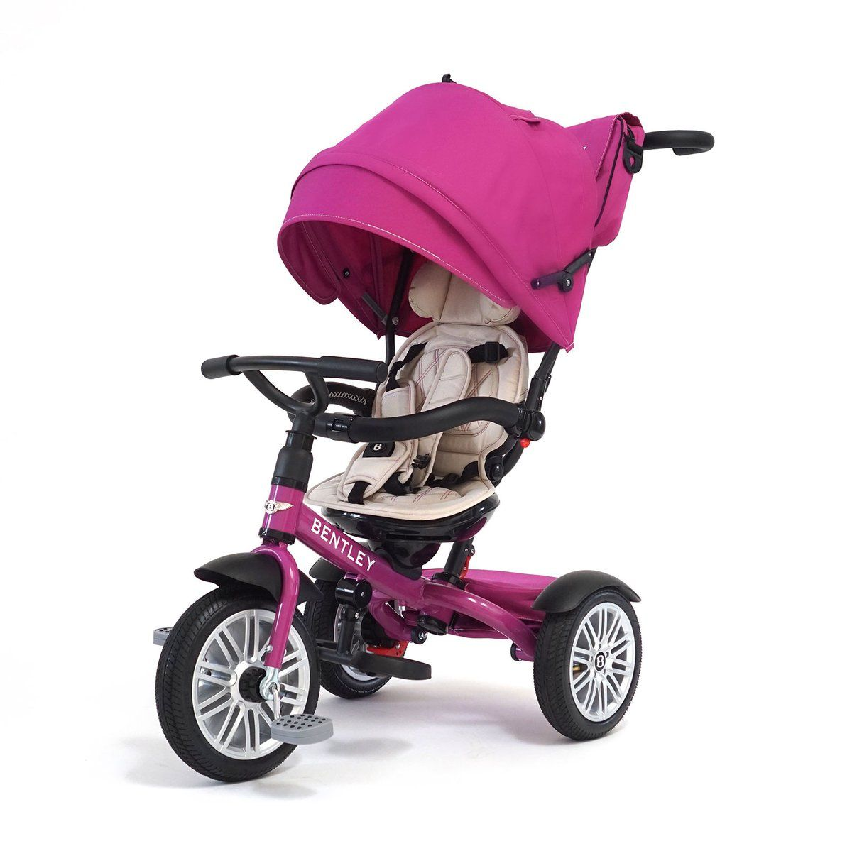 Fuchsia Pink Bentley 6 in 1 Stroller Trike (With images