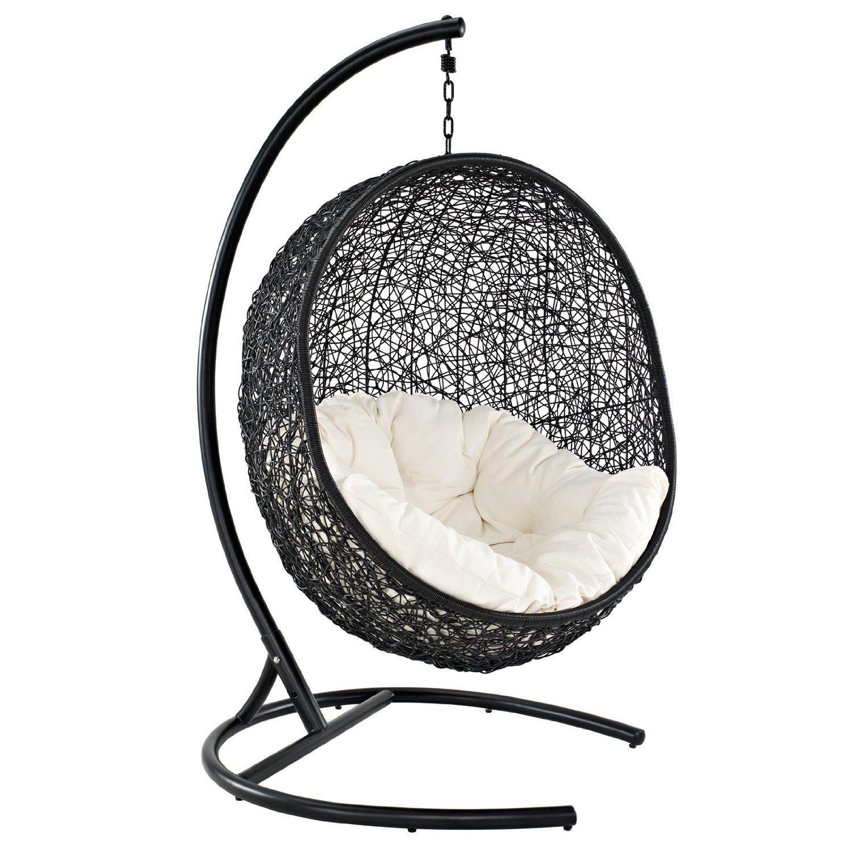 Amazon.com: LexMod Encase Rattan Outdoor Patio Swing Chair, Suspension  Series: Patio, Lawn & Garden - Amazon.com: LexMod Encase Rattan Outdoor Patio Swing Chair