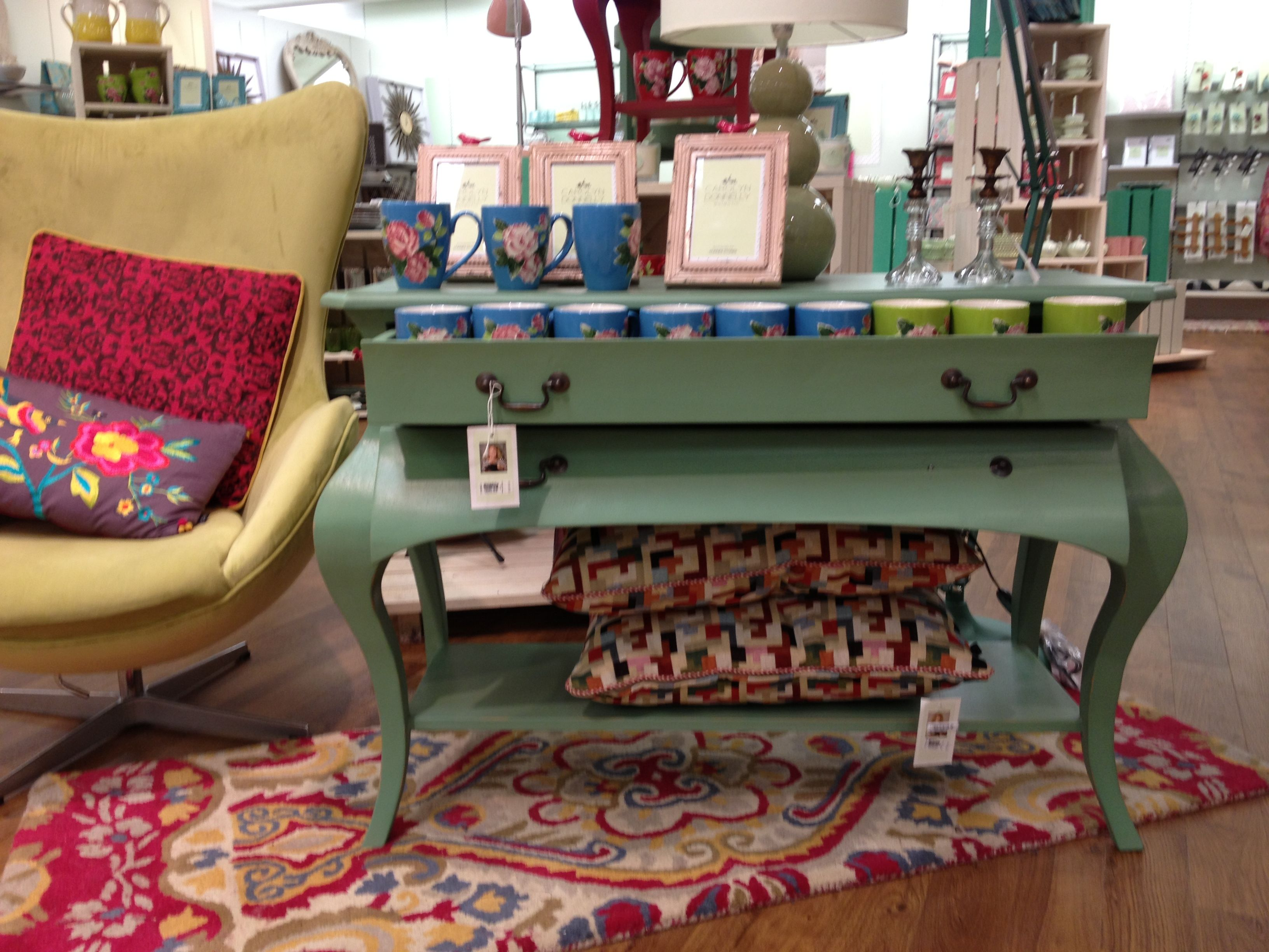 Jade painted console from Carolyn Donnelly\'s Eclectic collection for ...