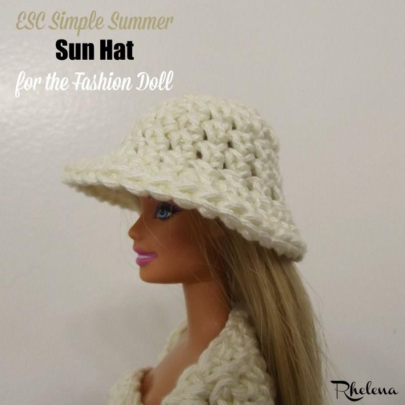 Esc Simple Summer Sun Hat For The Fashion Doll Free Crochet