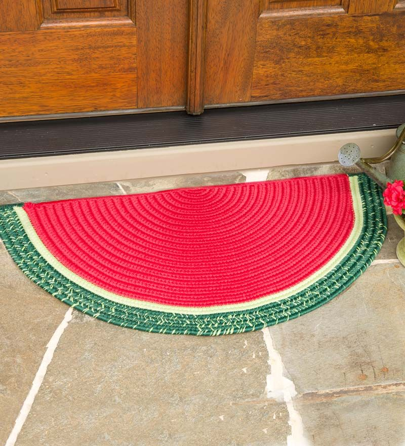 Watermelon Wedge Polypropylene Rug Outdoor Rugs