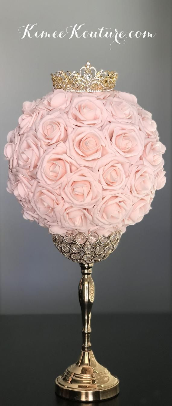 GOLD CROWN Centerpiece. Princess Wedding Centerpiece. TIARA Birthday Party. Princess Birthday. Bridal Shower. Sweet 16. Quincenerea #fiestade15años