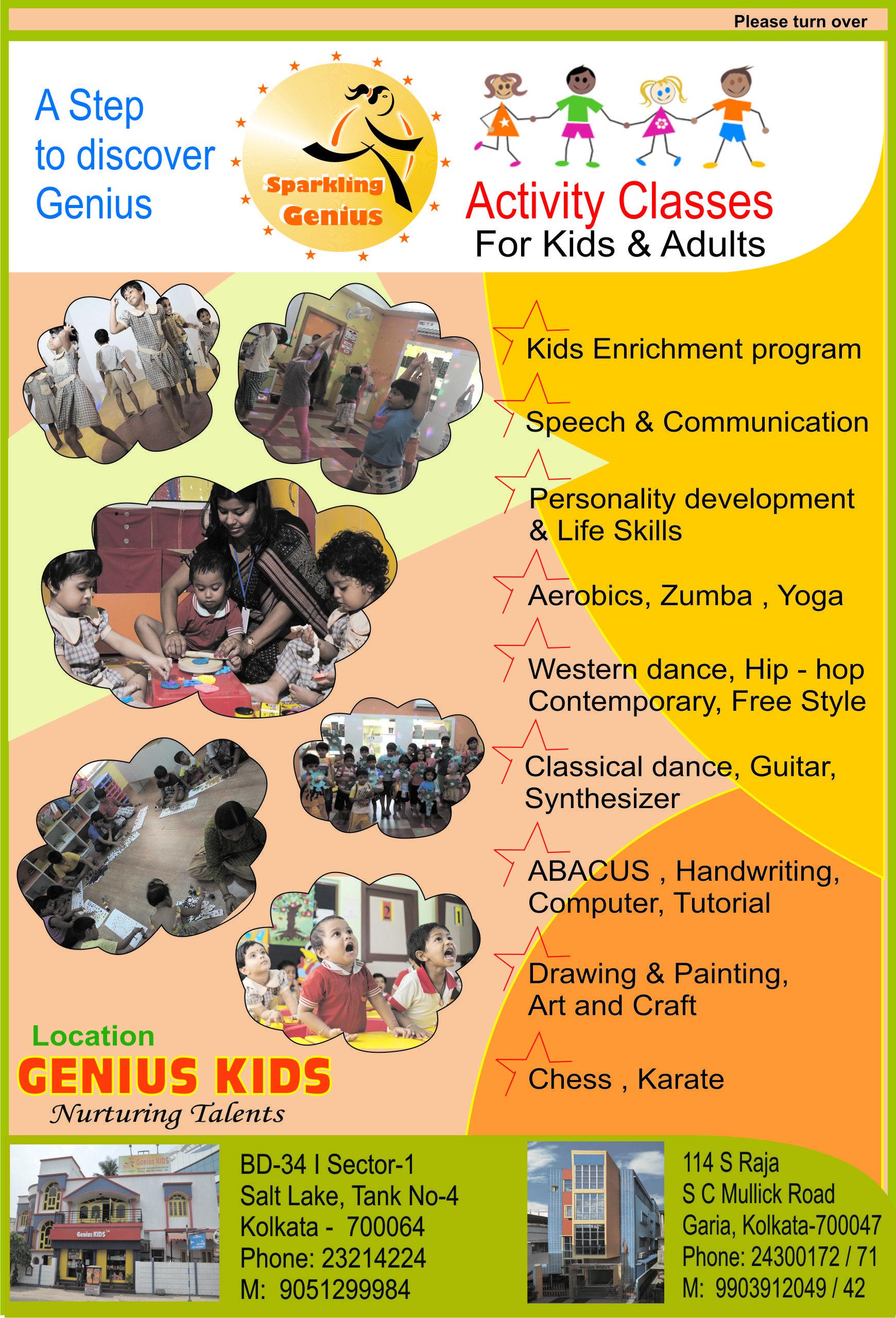 Activity Classes For Kids Adults Kids Enrichment Program