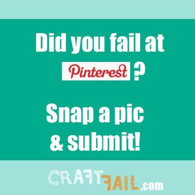 Hillarious! Tried & failed at a Pinterest project?  #pinterestfail