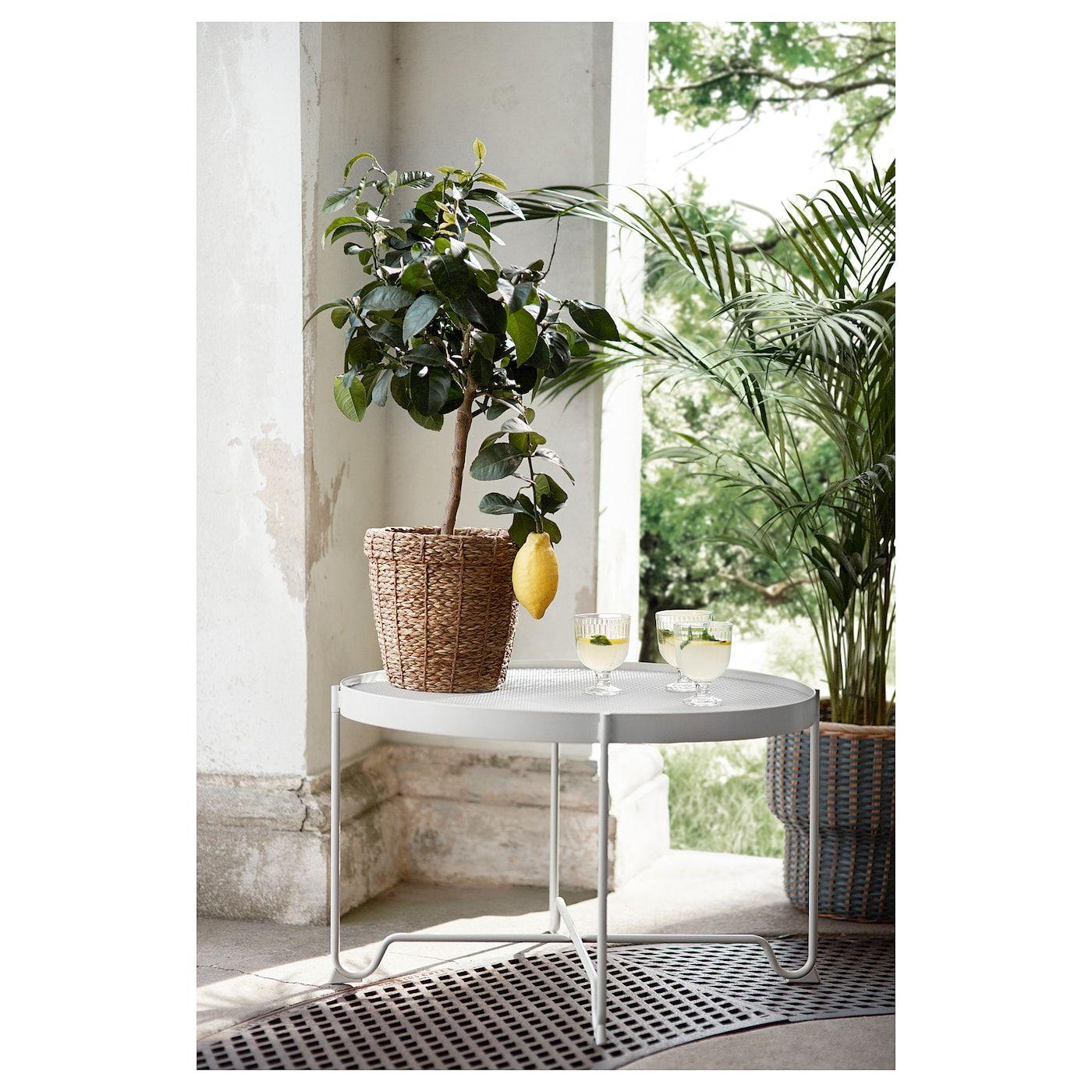 KROKHOLMEN Coffee table, outdoor, beige - IKEA  Modern outdoor