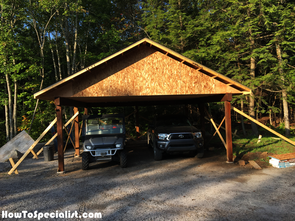 DIY Double Carport (With images) Double carport, Carport