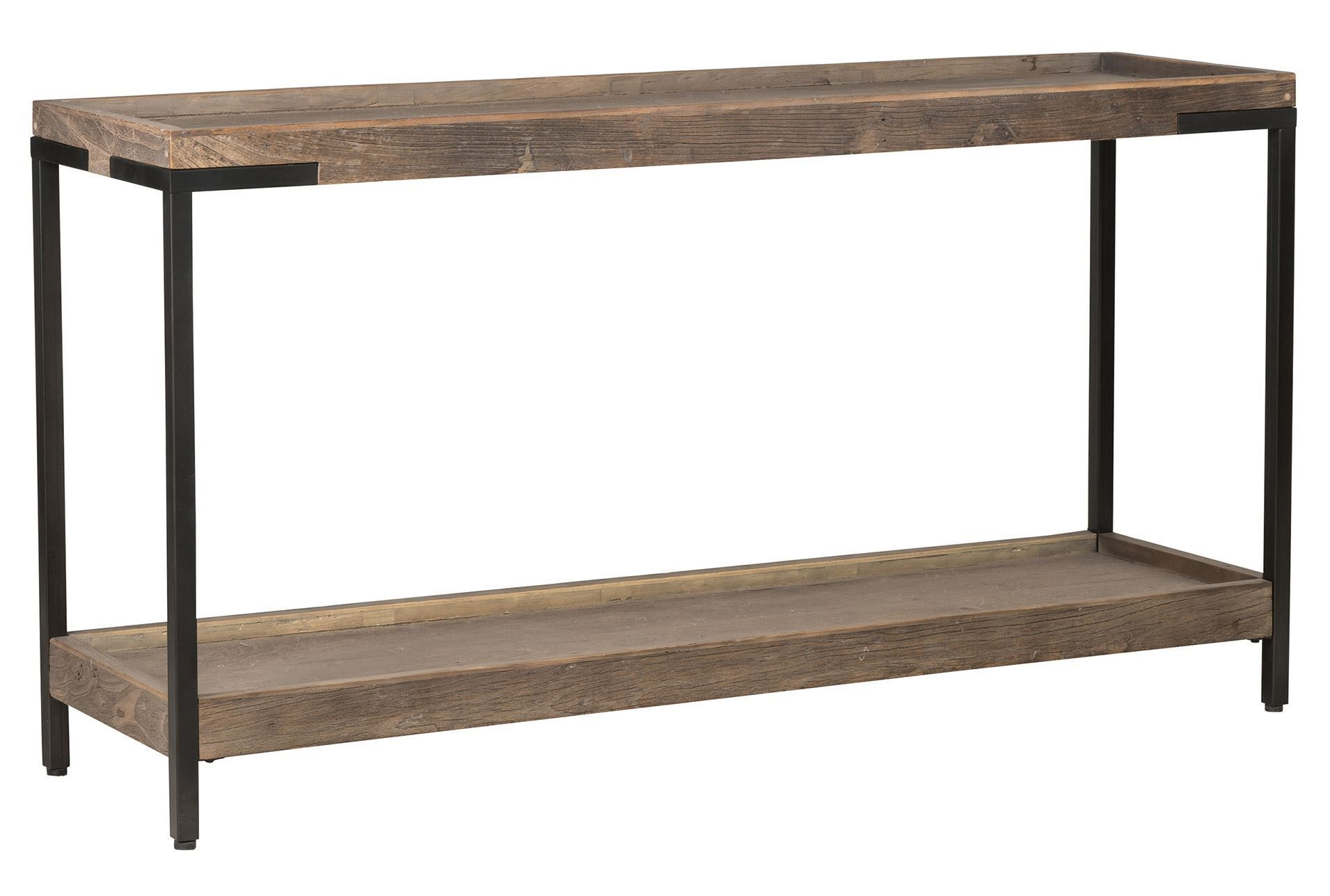 Otb Natural Wood Iron 68 Inch Console Table Signature