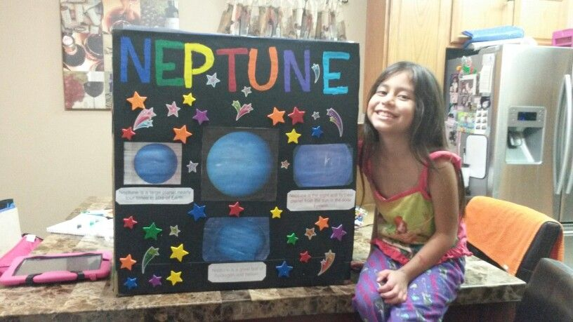 School project of planet Neptune Planet project Science
