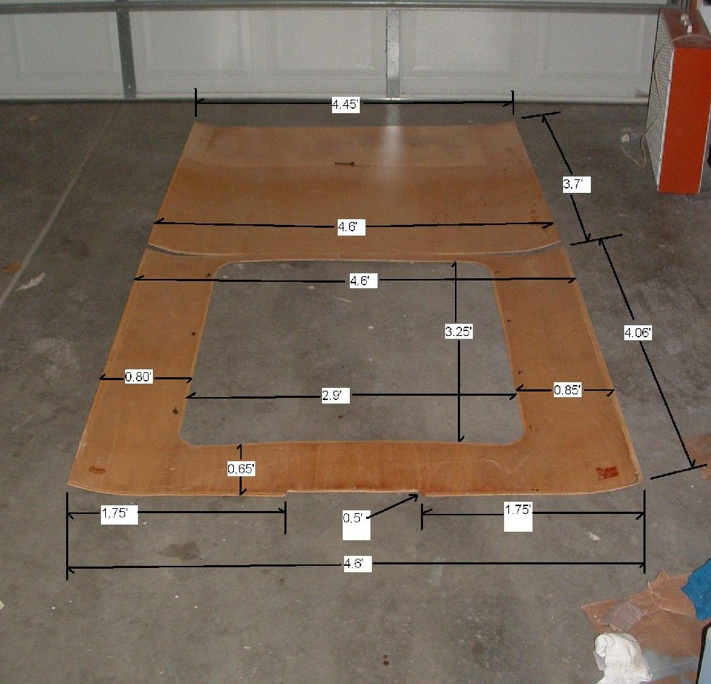 template for creating wooden headliner