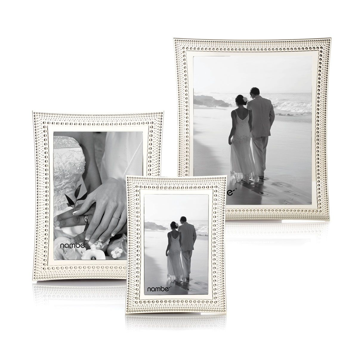 Nambe Metal Beaded 4x6 Picture Frame Wedding Picture Frames Frame Bead Frame