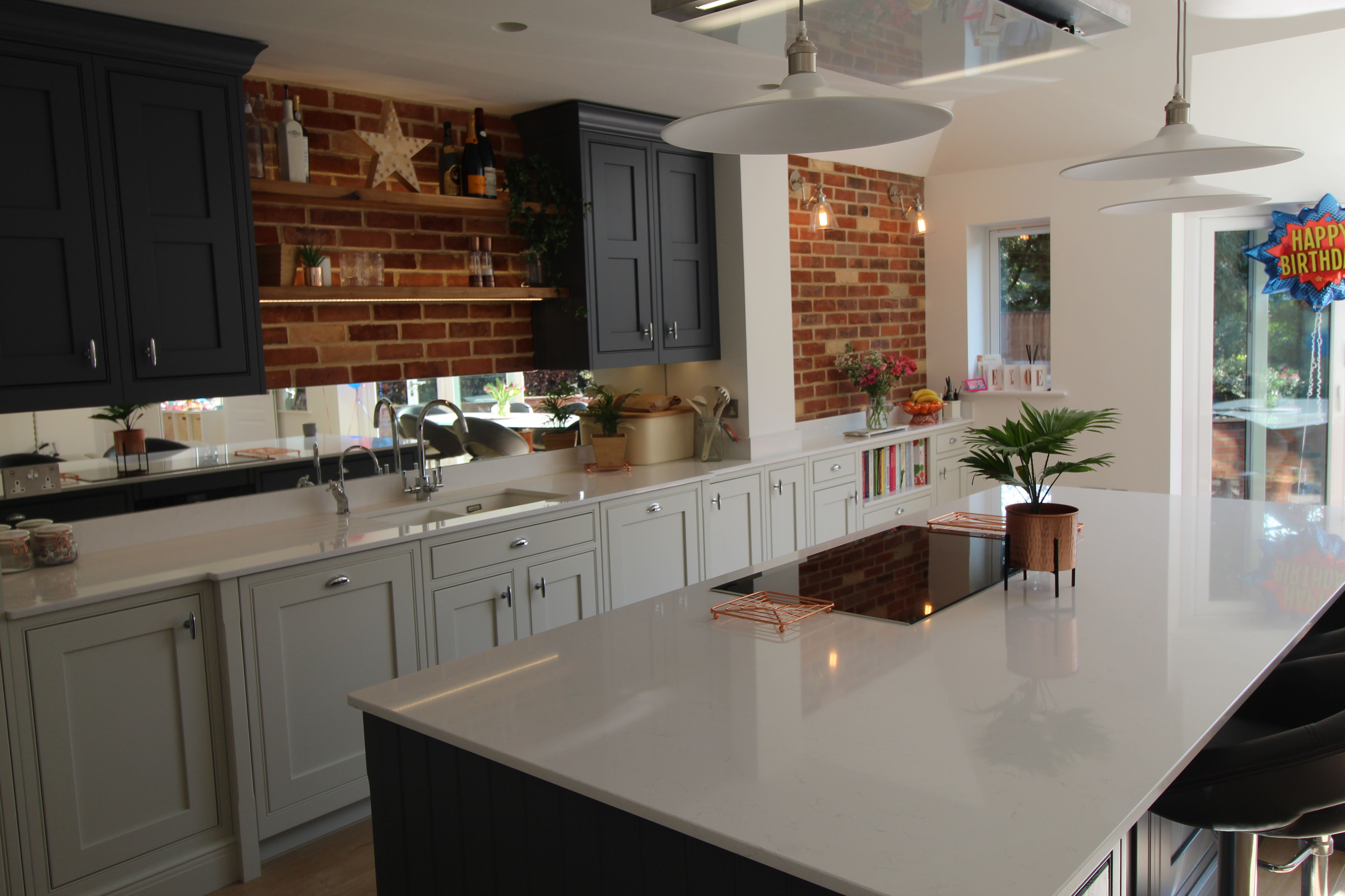 Painted French Grey and Slate Kitchen | Slate kitchen ...