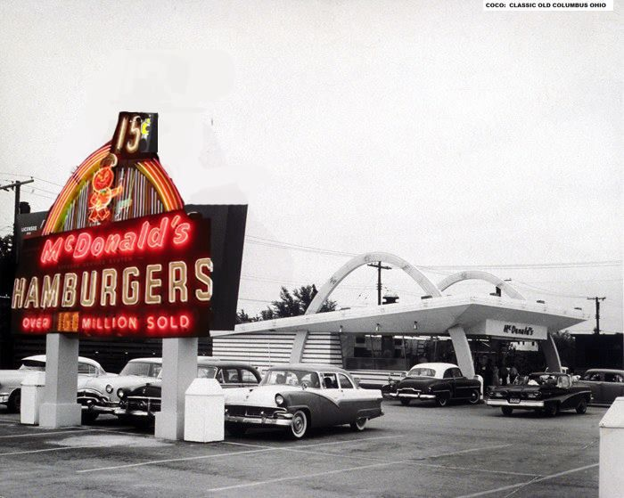 This photo represents the first opening of McDonald's in