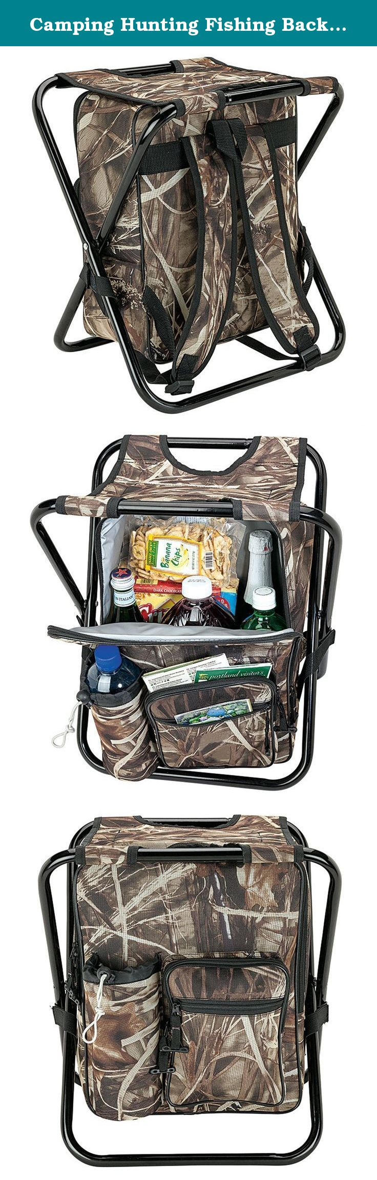 Camping Hunting Fishing Backpack Folding Stool with Cooler