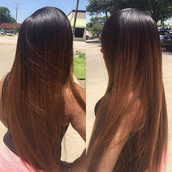 Ombre Brown Caramel Black At Homebest Hair Colors Fro Winter