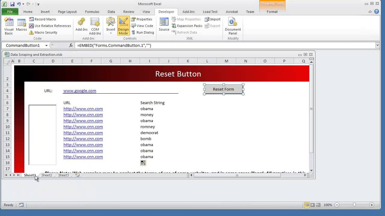 How To Create A Reset Clear Form Button Worksheet Vba Microsoft Excel Microsoft Excel Excel Excel Formula Add worksheet macro vba