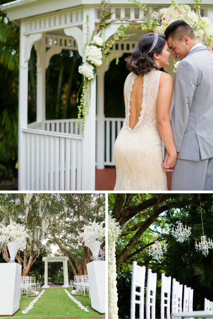 Outdoor wedding ideas beautiful flowers and gazebo at grand salon