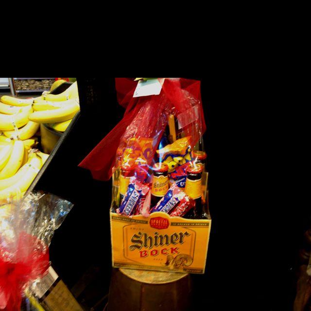A Shiner Bock Valentines Gift Basket = I Luv U!