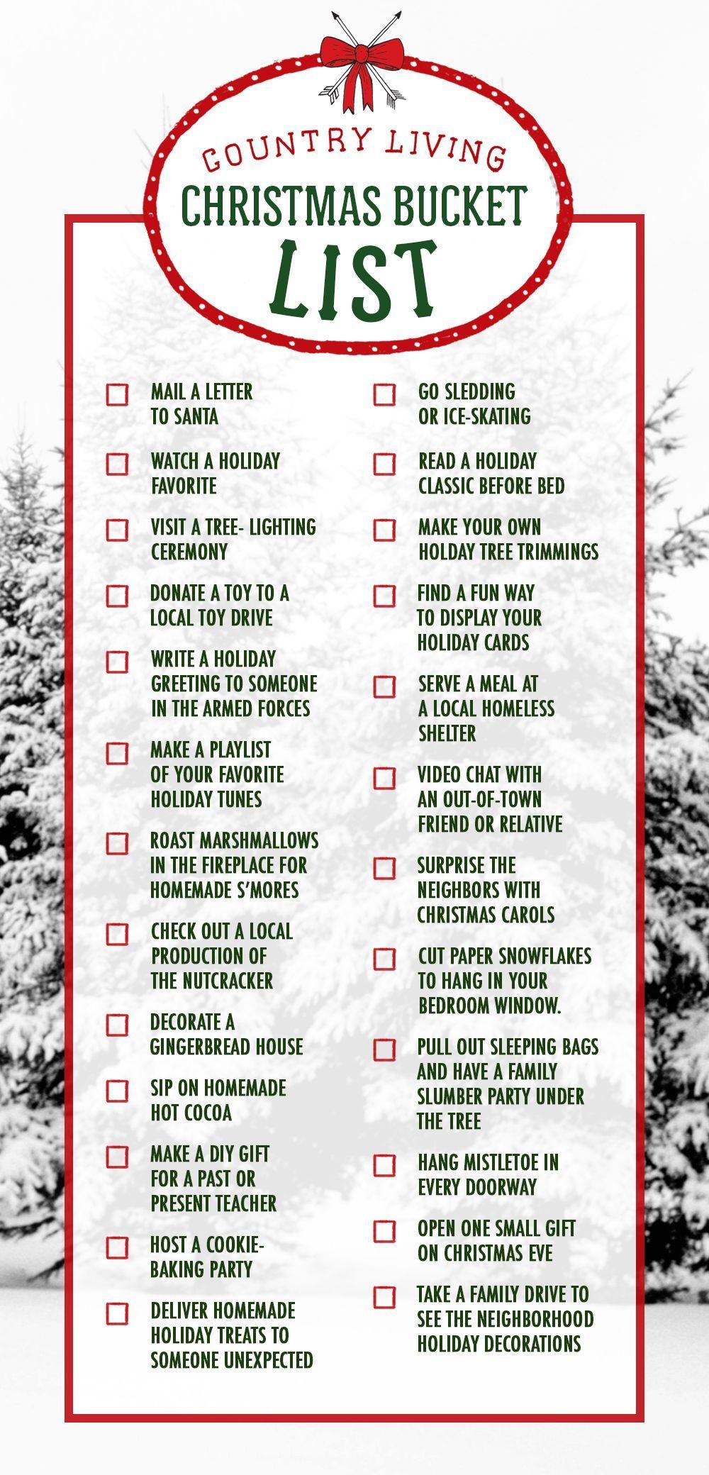 Bucket list christmas gifts