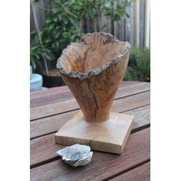Rare Australian wooden Flooded Gum burl vase
