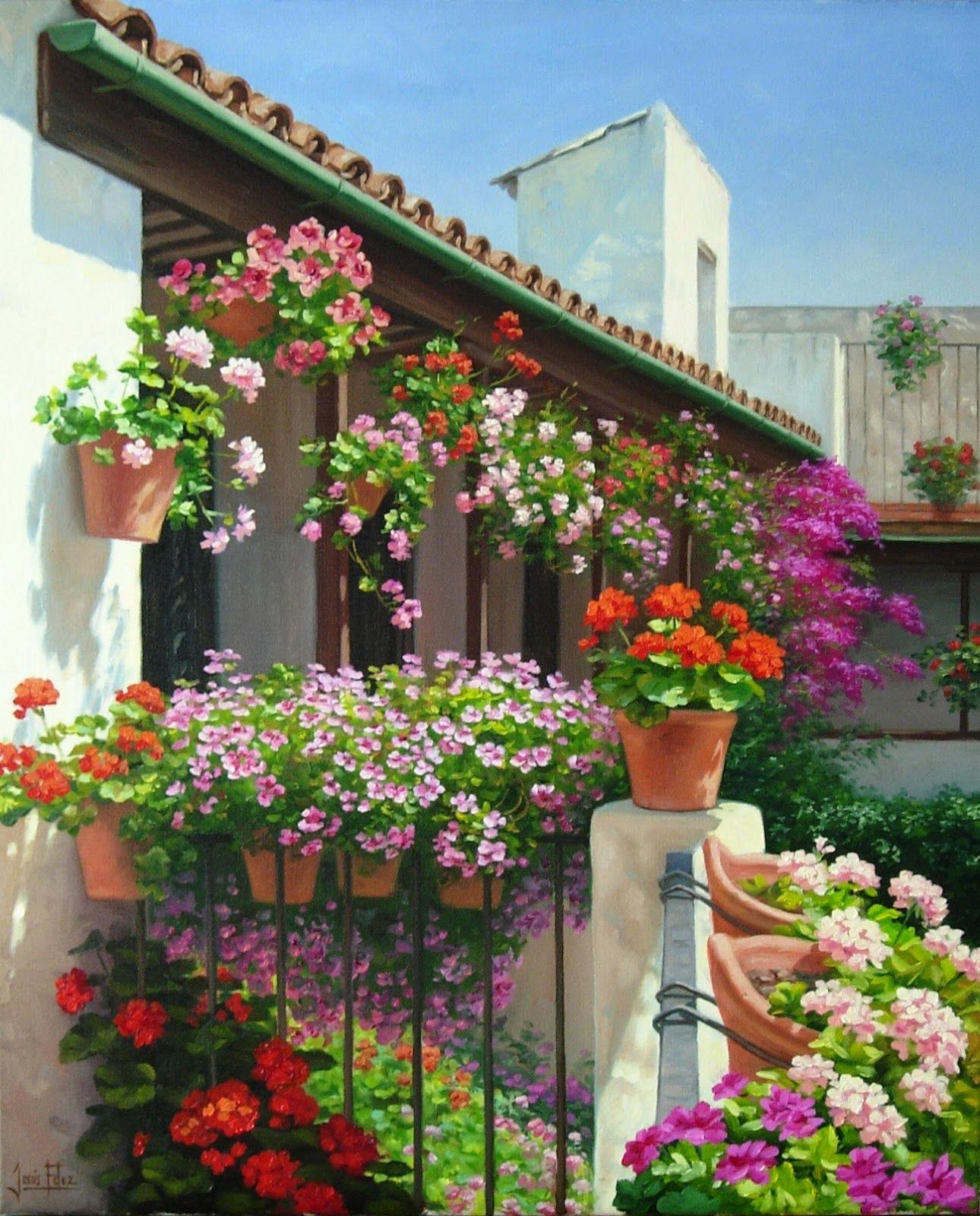 Jes s fern ndez pintor art pinterest pintor - Patios andaluces decoracion ...