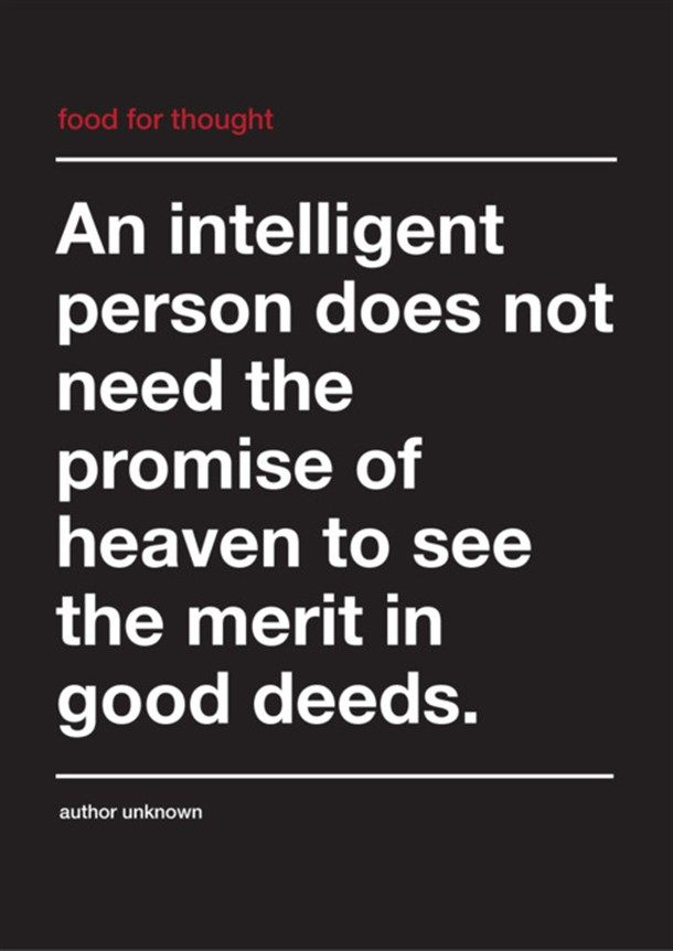 an intelligent person morality atheism and thoughts an intelligent person