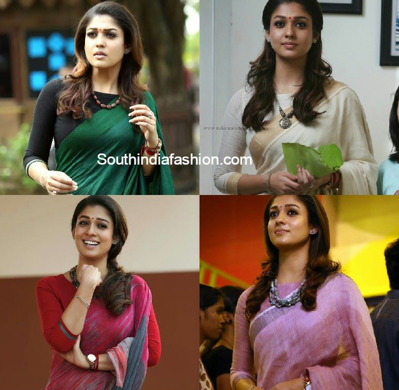 f9fd04619e43c9 Nayanthara in Boat Neck Blouses | sarees for office | Boat neck ...