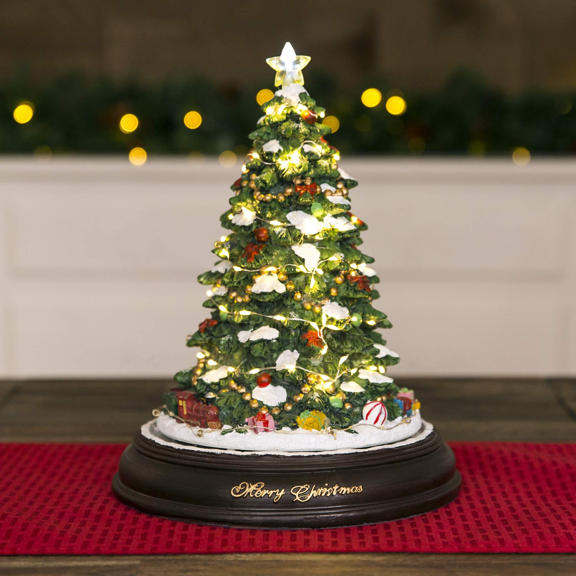 Pre Lit Rotating Christmas Tree.Best Choice Products Prelit Tabletop Rotating Musical